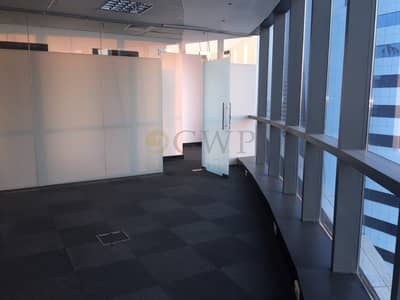 Office for Rent in Business Bay, Dubai - Fitted office with partition Close to Metro