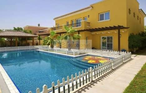 فیلا 6 غرف نوم للايجار في المرابع العربية، دبي - Upgraded Type 13 | Golf Course View| Private Pool