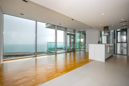 فلیٹ 2 غرفة نوم للايجار في جزيرة بلوواترز، دبي - High Floor|2BED + Maid|Sea View|Unfurnished