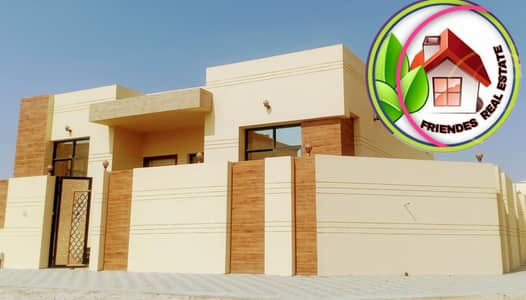 4 Bedroom Villa for Sale in Al Helio, Ajman - Villa for sale in the corner of two streets, amazing design, personal building, directly from the owner