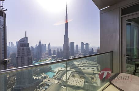 3 Bedroom Flat for Rent in Downtown Dubai, Dubai - Fully Furnished |Burj and Fountain View|High Floor