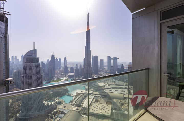 Fully Furnished |Burj and Fountain View|High Floor