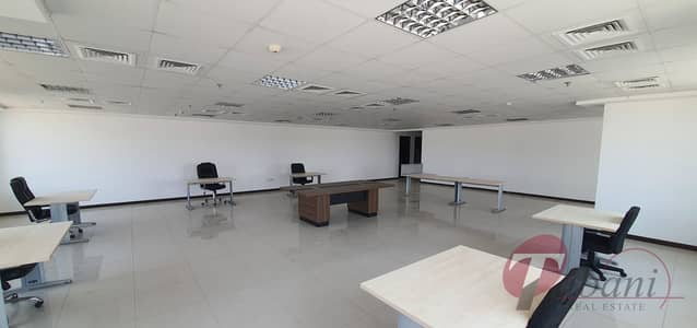Office for Rent in Jumeirah Village Circle (JVC), Dubai - Partially furnished with fitted office for rent in JVC