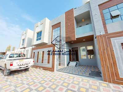 5 Bedroom Villa for Sale in Al Yasmeen, Ajman - New villa on the road modern villa nice finishing