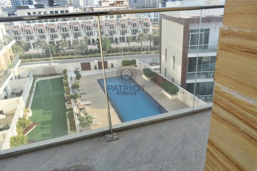 10 POOL VIEW l BEAUTIFUL STUDIO l BRAND NEW BUILDING l BALCONY