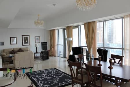 3 Bedroom Flat for Rent in Dubai Marina, Dubai - Rare three bed all ensuit bath with huge balcony