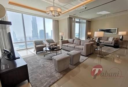 شقة 3 غرف نوم للبيع في وسط مدينة دبي، دبي - Exclusive |Fully Furnished |Burj and Fountain View