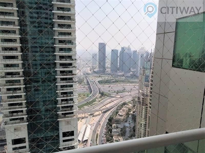 12 1 BR | Sheikh Zayed View | Balcony