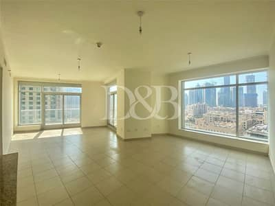 2 Bedroom Apartment for Rent in Downtown Dubai, Dubai - High Floor | Chiller Free | 2 Balconys | Bright