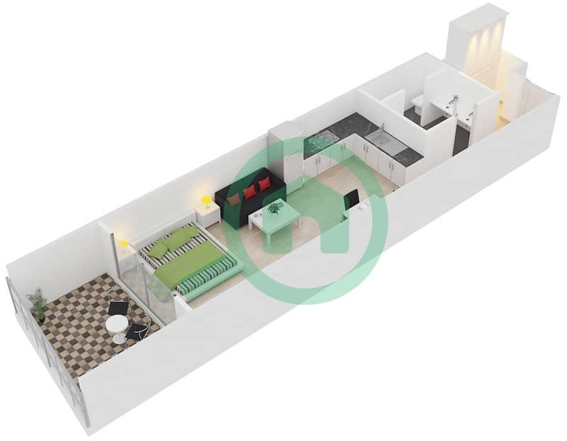المخططات الطابقية لتصميم النموذج G شقة  - برج لاجونا موفنبيك interactive3D