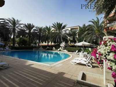 Studio for Rent in Green Community, Dubai - Furnished | Studio | Extended balcony