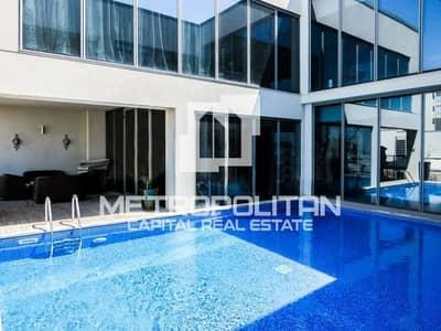 فیلا 4 غرف نوم للبيع في شاطئ الراحة، أبوظبي - Luxurious & Huge Podium Villa with Private Pool!