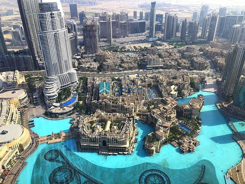 18 Luxurious 2BR+Maids | Full Fountain Views