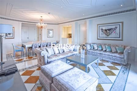 2 Bedroom Flat for Rent in Culture Village, Dubai - Versace Furniture | Creek and Pool Views | 4 Chqs