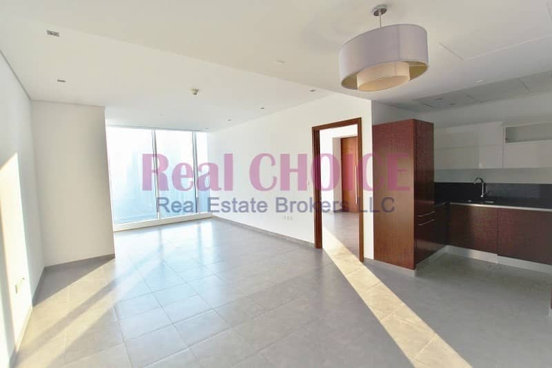 2 SZR and Burj View   Vacant 1BR   high floor