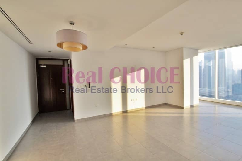 SZR and Burj View   Vacant 1BR   high floor