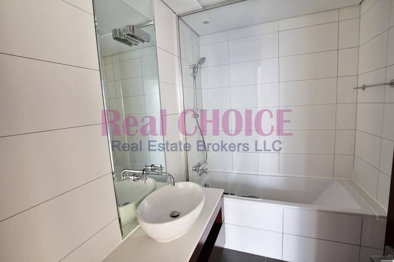 13 SZR and Burj View   Vacant 1BR   high floor