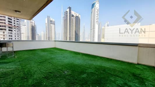 1 Bedroom Apartment for Rent in Business Bay, Dubai - Corner unit with  terrace I Fully equipped kitchen