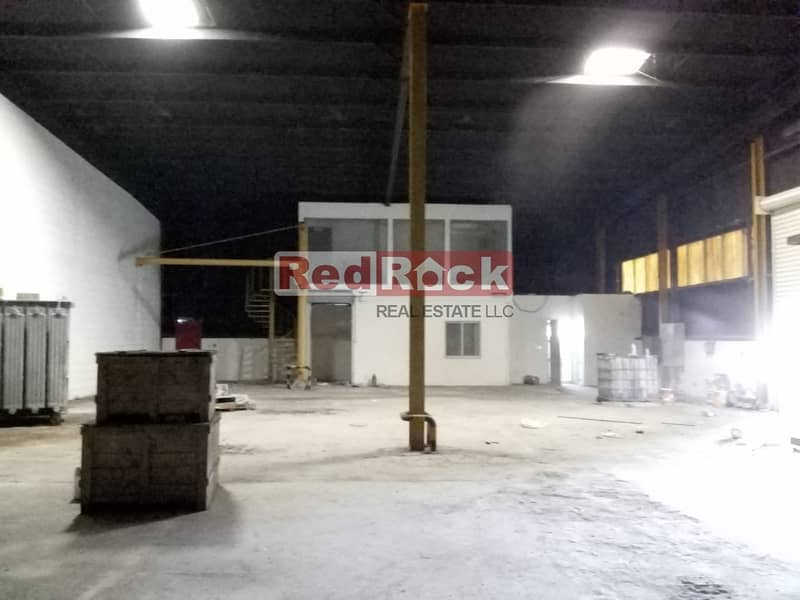 9 AED 19/sqft 6639 Sqft Warehouse with 100 KW Power in DIP