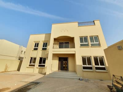 5 Bedroom Villa for Rent in Barashi, Sharjah - Cheapest brand new 5BR Independent duplex villa with two maids room driver room huge garden and one month free rent 135k