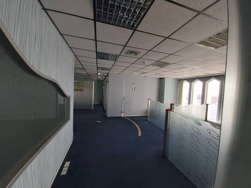 2 Fully Fitted Office of 750 Sqft for 45000 only 3 month free option Chiller Free
