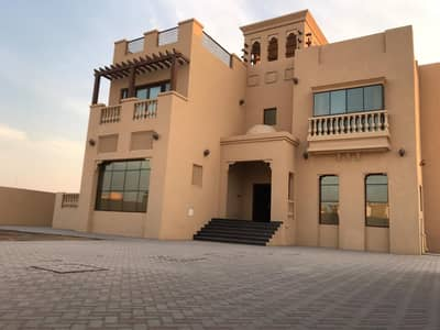 6 Bedroom Villa for Rent in Al Jurf, Ajman - BEAUTIFUL VILLA CENTRAL AC/ 6 BEDROOM HALL MAJLIS WITH BIG HOSH ON MAIN ROAD NEAR CHINA MALL AL JURF 125,000/- AED YEARLY,