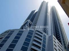CITY-VIEW || FREE CHILLER || FREE PARKING || ONE BEDROOM FLAT FOR RENT, CORNICHE TOWER, AJMAN