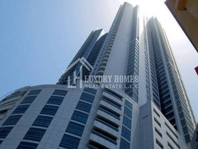 1 Bedroom Flat for Rent in Corniche Ajman, Ajman - CITY-VIEW || FREE CHILLER || FREE PARKING || ONE BEDROOM FLAT FOR RENT, CORNICHE TOWER, AJMAN