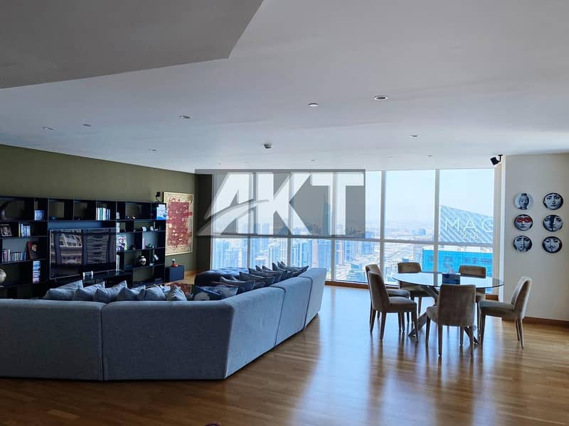 2 5 M / Upgraded Penthouse/ 4 Beds +Maid / Full Panoramic Sea View / Duplex