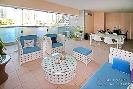 3 Bedroom Flat for Sale in Dubai Marina, Dubai - Indoor Terrace | Panoramic Marina Views