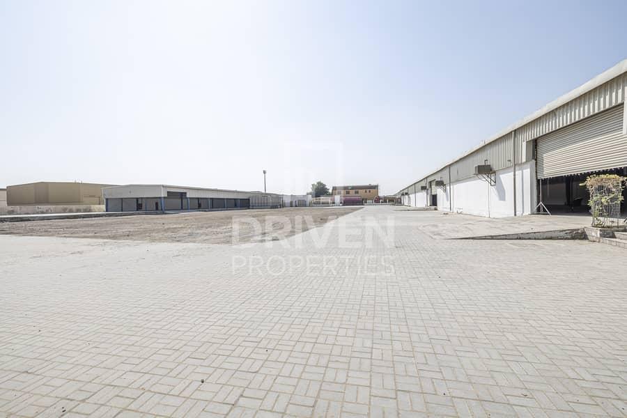 Well-kept Warehouse Factory w/ Open Yard