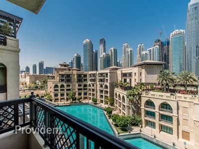 فلیٹ 1 غرفة نوم للايجار في وسط مدينة دبي، دبي - Burj and Fountain Views | Rare and Unique | Vacant