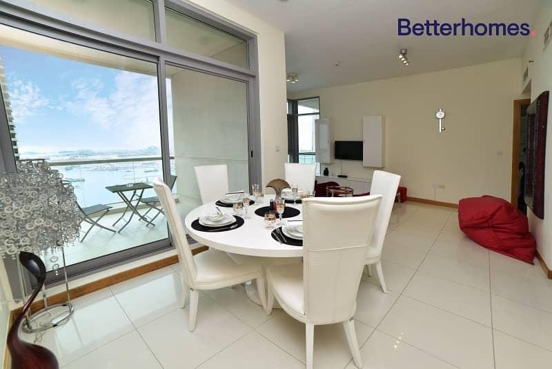2 Furnished |High floor | Marina & Sea View