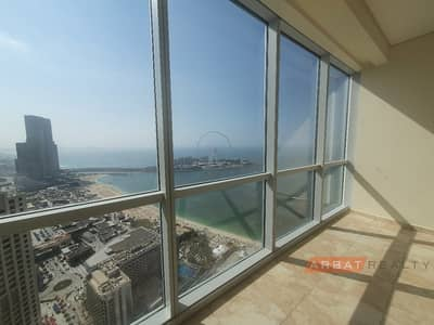 2 Bedroom Flat for Rent in Jumeirah Beach Residence (JBR), Dubai - Best   sea view   direct access to the beach