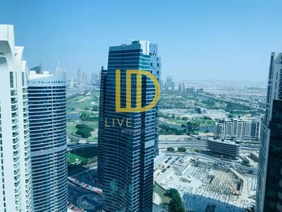 1 Bedroom Apartment for Rent in Jumeirah Lake Towers (JLT), Dubai - Furnished | Higher Floor | Lake View | Full Glass Window HL