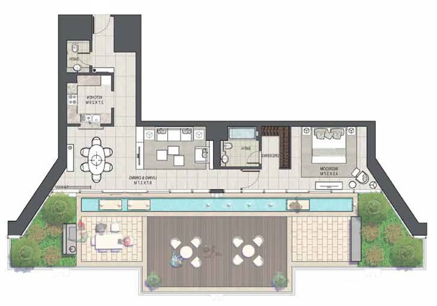 10 1 Bedroom | Rare Layout | Large Terrace.