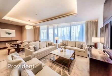 3 Bedroom Apartment for Sale in Downtown Dubai, Dubai - Burj Khalifa & Fountain View Service Apartment