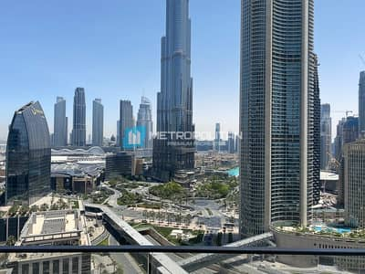 2 Bedroom Flat for Sale in Downtown Dubai, Dubai - Vacant |Biggest 2Bed |Middle unit |Full Burj view