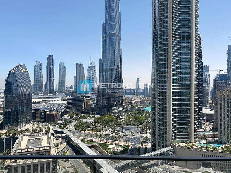 1 Vacant |Biggest 2Bed |Middle unit |Full Burj view