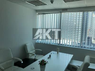 مکتب  للايجار في الخليج التجاري، دبي - 53 K / Ready office / Partial Canal View / Fully Furnished / Business Bay