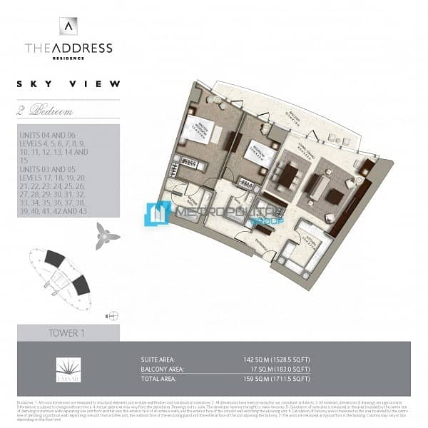 2 Vacant |Biggest 2Bed |Middle unit |Full Burj view