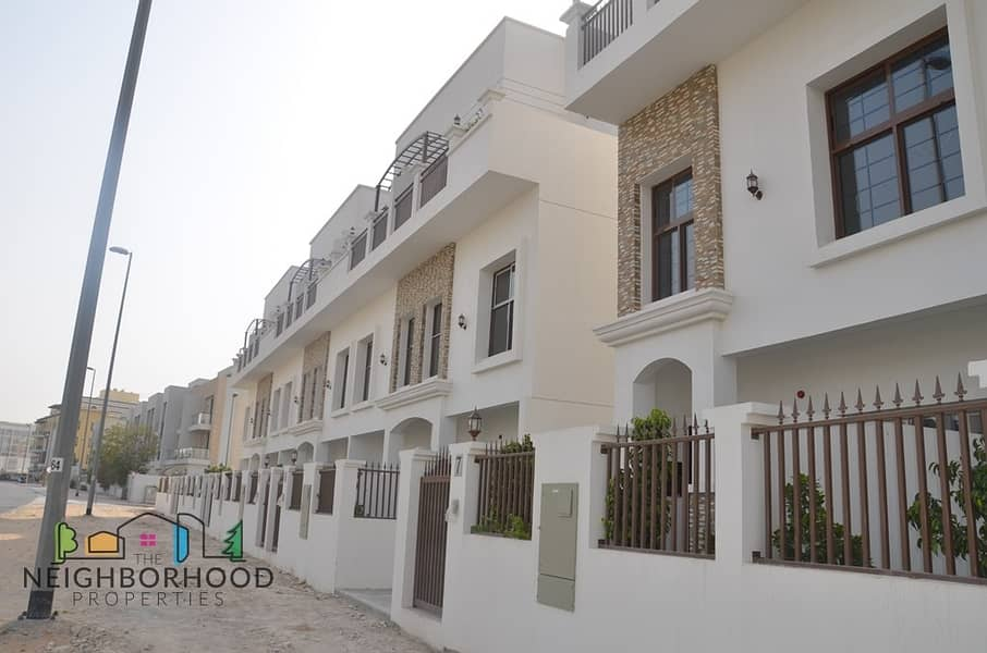 2 Elegant 4 Bedroom+ Maids Single Row Villa JVC