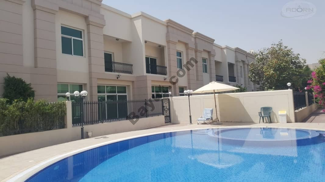 2 1 month free| 3bed | fully renovated villa| with pvt garden | shared pool and gym