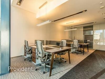 مکتب  للايجار في مركز دبي المالي العالمي، دبي - Fully Serviced Furnished Office with all Bills