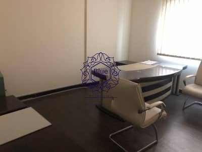 Office for Rent in Maysaloon, Sharjah - Luxury Huge Office with Partitions in Maysaloon