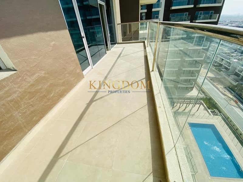 2 Pool view | 2BR |  Brand New | unfurnished | Chiller Free