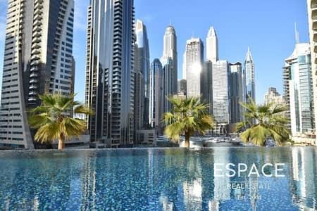 فلیٹ 3 غرف نوم للايجار في دبي مارينا، دبي - Pristine Upraged Duplex 3BR plus Maids