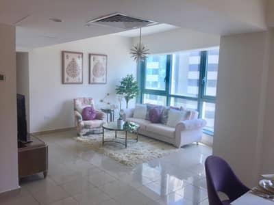 شقة 1 غرفة نوم للايجار في منطقة الكورنيش، أبوظبي - furnished apartment with  sea view high quality specifications