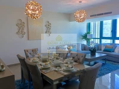 شقة 2 غرفة نوم للايجار في منطقة الكورنيش، أبوظبي - Luxurious furnished apartment with panoramic sea view distinguished with the highest quality standards