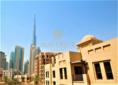 1 Bedroom Apartment for Rent in Old Town, Dubai - Furnished 1BR | Burj View | Chiller Free